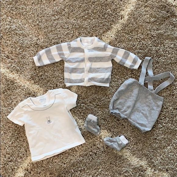 Mayoral Baby Boy Denim Blue Fleece Jogging Pants Boutique Brand 3-6 9 12 mth NWT